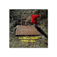 "Lee Harvey Oswald 1939-1963 Square Sticker 3"" x 3"""