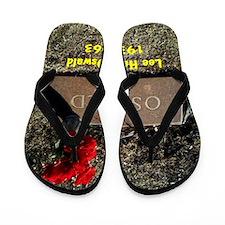 Lee Harvey Oswald 1939-1963(button) Flip Flops