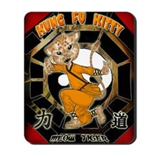KUNG FU KITTY- Meow  Tiger Mousepad