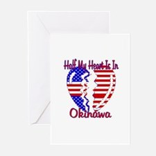Half my heart is in Okinawa Greeting Cards (Packag