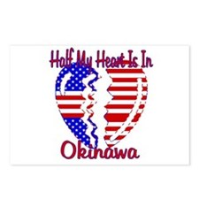 Half my heart is in Okinawa Postcards (Package of