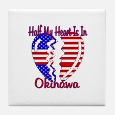 Half my heart is in Okinawa Tile Coaster