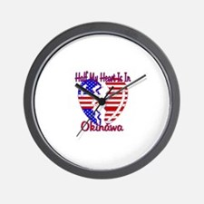 Half my heart is in Okinawa Wall Clock