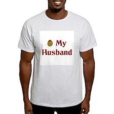 Olive My Husband Ash Grey T-Shirt