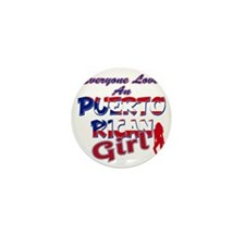 PR girl Mini Button