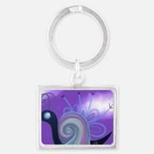 The Rainbow Snail Landscape Keychain