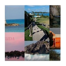 Bermuda Postcard Tile Coaster