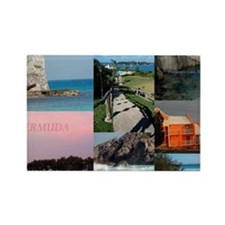 Bermuda Postcard Rectangle Magnet