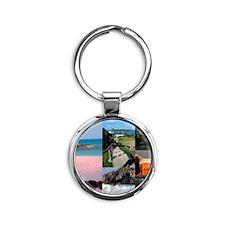 Bermuda Postcard Round Keychain