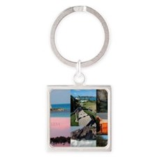Bermuda Postcard Square Keychain