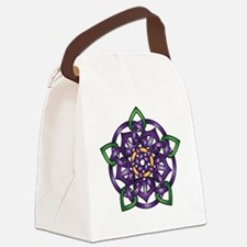 Sabines Purple Rose Canvas Lunch Bag