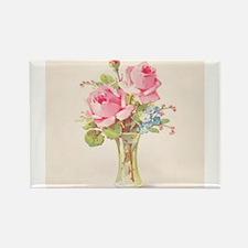 Pink roses in vase Magnets