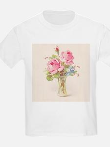 Pink roses in vase T-Shirt