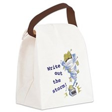 Write out the storm! Canvas Lunch Bag