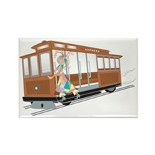 Express Cable Car Rectangle Magnet