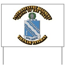 Army - 144th Infantry Regiment Yard Sign