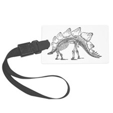 stegosaurus skeleton Luggage Tag
