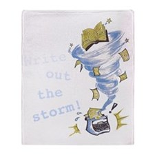 Write out the storm! Throw Blanket