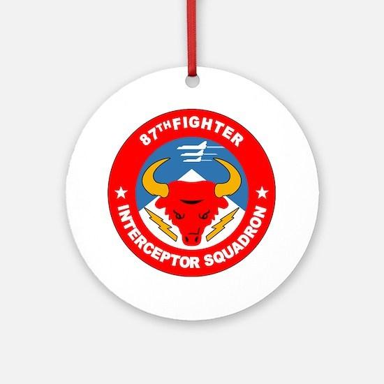 87th_interceptor_squadron Round Ornament