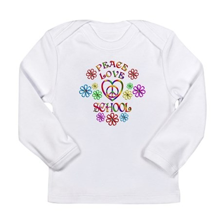 Peace Love School Long Sleeve Infant T-Shirt