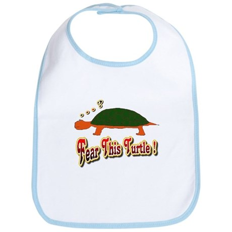Fear This Turtle !? Bib
