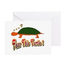 Fear This Turtle !? Greeting Cards (Pk of 10)