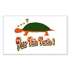Fear This Turtle !? Rectangle Decal