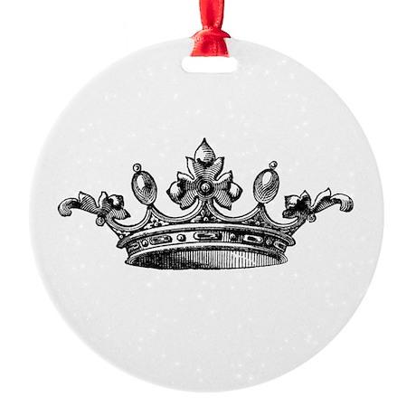 Vintage Crown Round Ornament