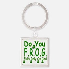 frog Square Keychain