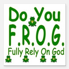 "frog Square Car Magnet 3"" x 3"""