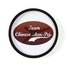 Team Shar-Pei Wall Clock