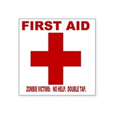 """zombiefirstaid4.gif Square Sticker 3"""" x 3"""""""