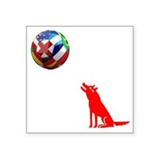 """Howling At The Moon Square Sticker 3"""" x 3"""""""