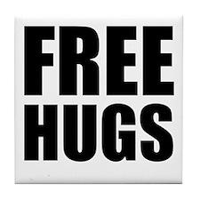 Free Hugs W Tile Coaster