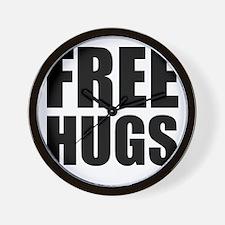 Free Hugs W Wall Clock