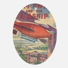 Tom Swift and his Airship Oval Ornament