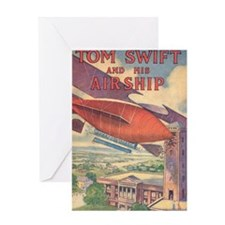 Tom Swift and his Airship Greeting Card