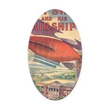 Tom Swift and his Airship Oval Car Magnet