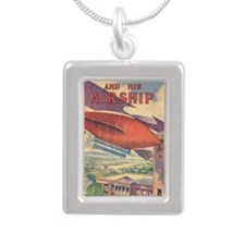 Tom Swift and his Airshi Silver Portrait Necklace