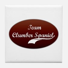 Team Clumber Tile Coaster