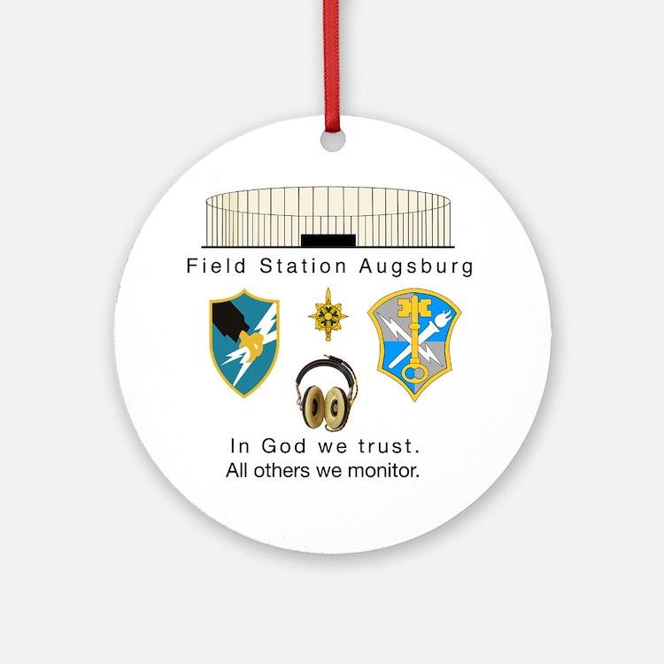 FSAv2_God_Tshirt Round Ornament