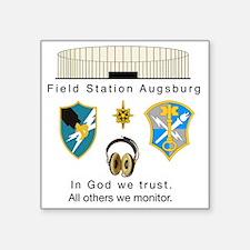"FSAv2_God_Tshirt Square Sticker 3"" x 3"""