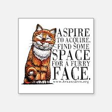 """aspire_to_acquire_CLRLogo Square Sticker 3"""" x 3"""""""