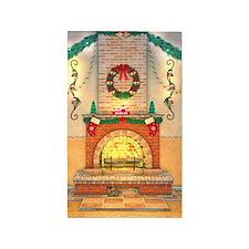 Christmas Fireplace 3'x5' Area Rug