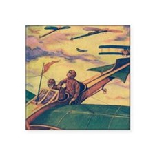 "Tom Swift and Sky Racer Square Sticker 3"" x 3"""