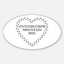 entlebucher mountain dog paw heart Decal