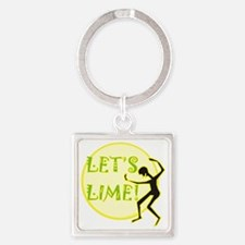 Lets Lime Square Keychain
