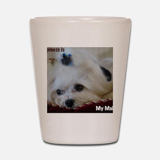 My Maltese Shot Glass