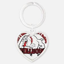 Bulldog Reunion Heart Keychain