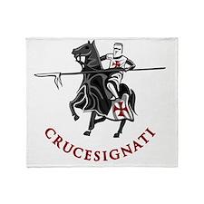 10-crusader stich Throw Blanket